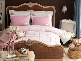 Menton Double-Sided Double-Size Ranforce Duvet Cover Set - Pink