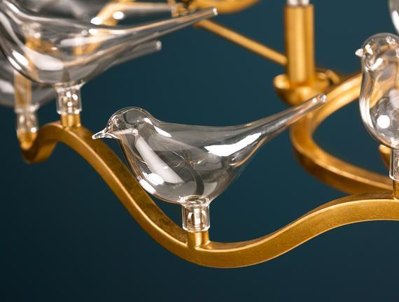 Oiseaux Avize - Gold