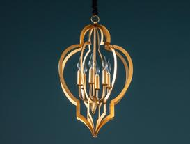Dorio Chandelier - Gold