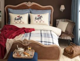 Annecy Double-Sided Double-Size Ranforce Duvet Cover Set - Navy
