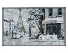 Paris Kapı Önü Paspası - Gri
