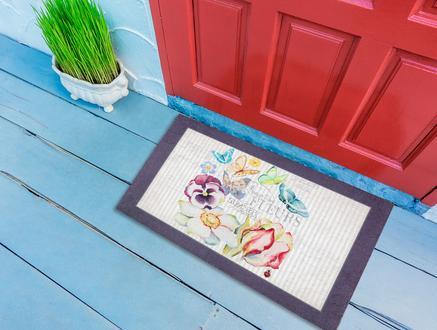 Butterfly Kapı Önü Paspası - Mürdüm