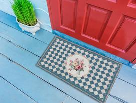 Floral Kapı Önü Paspası 45x75cm