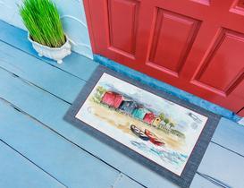 Seaside Kapı Önü Paspası - Indigo