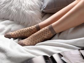 Kadın Şeffaf Soket Çorap - Vizon