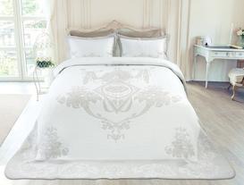 Le Chalet Çift Kişilik Yatak Örtüsü - Taş