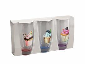 Cupcake 3'lü Su Bardağı