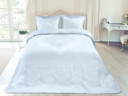 Cottage Çift Kişilik Yatak Örtüsü - Açık Mavi