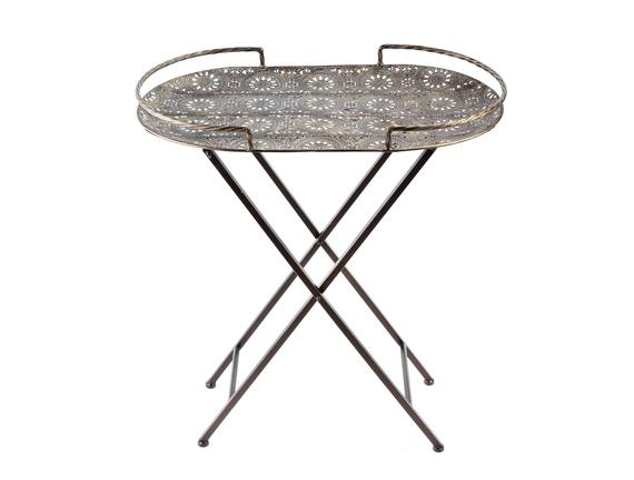 Athoa Metal Tepsili Sehpa Oval 63x35,5x68 cm