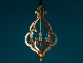 Corbett Chandelier - Gold