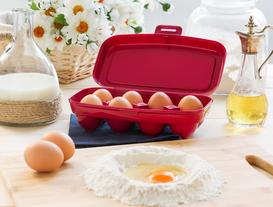 Actuel 8'li Yumurta Kabı - Carmen Kırmızı