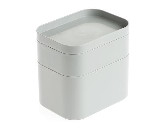 Üst Bölmeli 3'Lü Mini Organizer - Taş