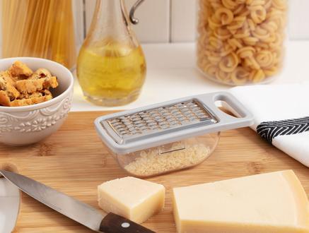 Daily Hazneli Sarımsak ve Peynir Rendesi - Soft Gri