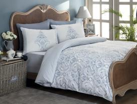 Laurette Double-Sided Single-Size Ranforce Duvet Cover Set - Blue