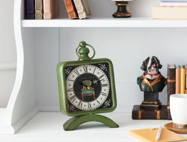 Vintage London Masa Saati - Koyu Yeşil