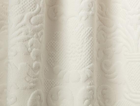 Amarente Bukle Kadife Havlu - Ekru - 70x140 cm