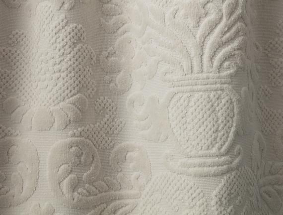 Amarente Bukle Kadife Havlu - Bej - 70x140 cm