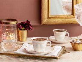 Cymbidium 4-Piece Coffeecup Set