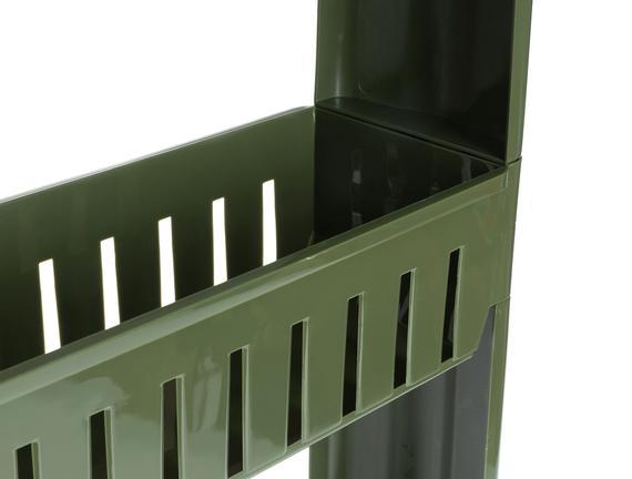 Solid Tekerlekli 3 Katlı Organizer - Koyu Yeşil