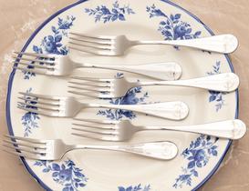 Fleur De Lys 6'lı Yemek Çatalı Seti