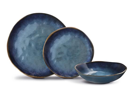 Bleu Infini 12 Parça Yemek Takımı - Mavi