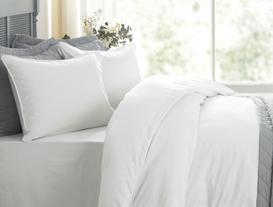 Therron Double-Size Vintage Duvet Cover Set - White