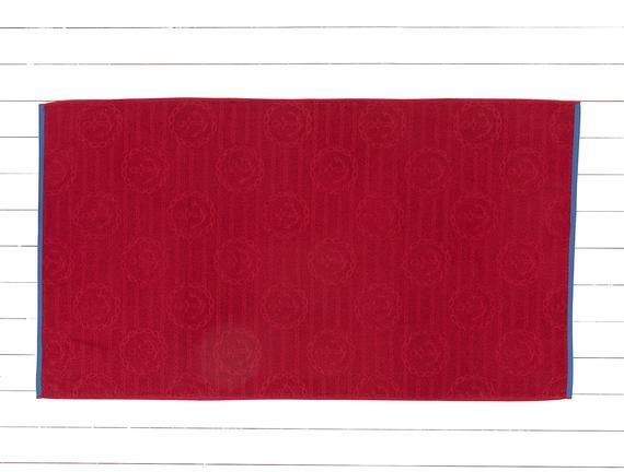 Hayette Jakarlı Plaj Havlusu - Kırmızı - 80x140 cm
