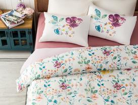 Maika Ranforce Single-Size Double-Sided Duvet Cover Set - Damson