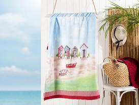 Odette  Baskılı Kadife Plaj Havlusu 75X150 cm
