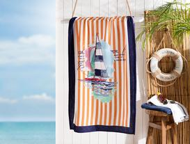 Carine Baskılı Kadife Plaj Havlusu 75X150 cm