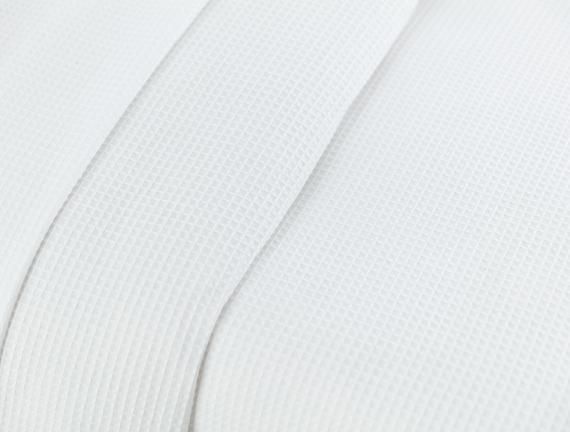 Pauline Çift Kişilik Yastığı Baskılı Düz Pike Seti - Beyaz