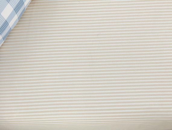 Chantal Tek Kişilik Yastığı Baskılı Düz Pike Seti - Bej