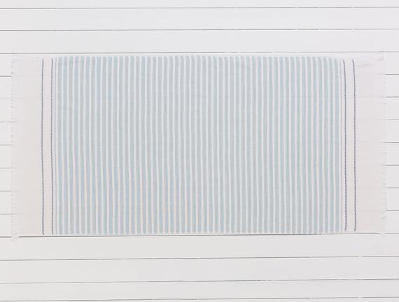 Robinetta Armürlü Plaj Havlusu - Mavi - 75x150 cm