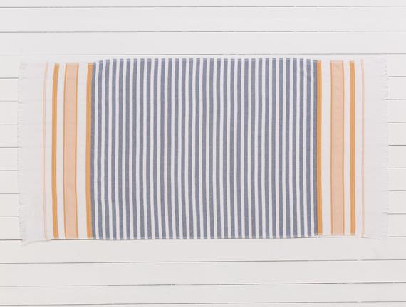 Hervey Armürlü Plaj Havlusu - Hardal - 75x150 cm