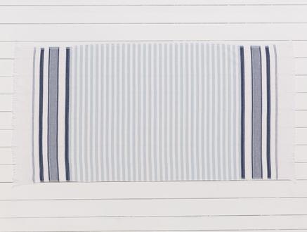 Hervey Armürlü Plaj Havlusu - Lacivert / Mavi