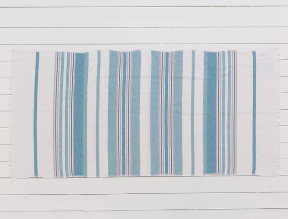 Fabroni Armürlü Plaj Havlusu - Turkuaz - 75x150 cm
