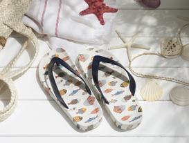 Poisson Parmak Arası Kadın Plaj Terliği - Lacivert