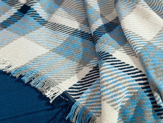 Charline Koltuk Şalı - Mavi / Lacivert