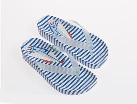 Voile Kadın Parmak Arası Terlik - Mavi