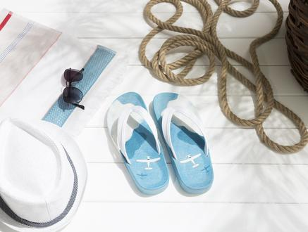 Avion Parmak Arası Erkek Plaj Terliği - Mavi
