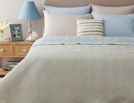 Pons Çok Amaçlı Çift Kişilik Yatak Örtüsü - Mavi