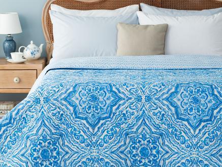 Cadance Çok Amaçlı Tek Kişilik Yatak Örtüsü - Mavi