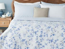 Cagnes Çok Amaçlı Tek Kişilik Yatak Örtüsü - Mavi