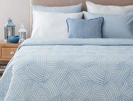 Damien Çok Amaçlı Tek Kişilik Yatak Örtüsü - Mavi