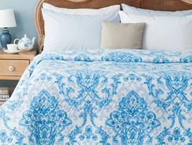 Richelle Çok Amaçlı Tek Kişilik Yatak Örtüsü - Mavi