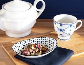 Rêve Bleu Petite Fleur New Bone China Oval Tabak