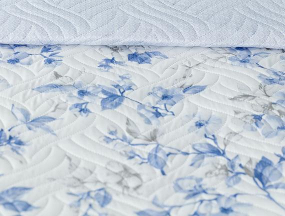 Cagnes Çok Amaçlı Çift Kişilik Yatak Örtüsü - Mavi