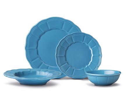 Florette 16 Parça Yemek Takımı - Teal Blue