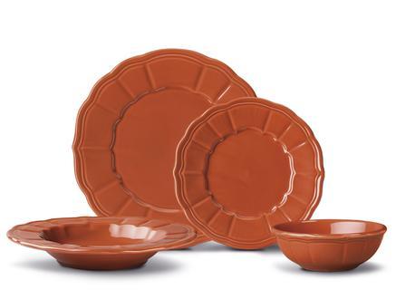 Florette 16 Parça Yemek Takımı - Terra Cotta