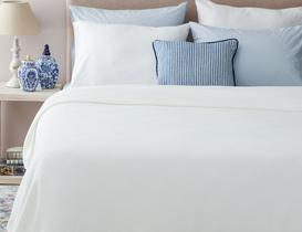 Mercredi Çift Kişilik Yatak Örtüsü - Beyaz